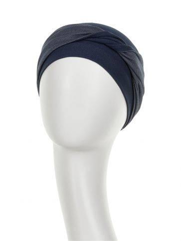 EMMY • V Turban - Denim Viva Headwear